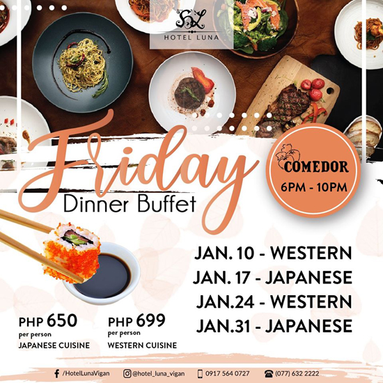 friday dinner buffet